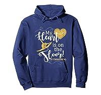 My Heart Is On The Floor Gymnast Mom Gif #gymmom Shirts Hoodie Navy