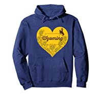 Wing Cow Heart Flower T-shirt - Apparel Hoodie Navy