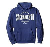 Vintage Sacrato Shirt Ca Home City Pride Distressed Hoodie Navy