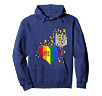 Love Wins Lgbtq Color Heart Pride Month Rally Shirt Tank Top Hoodie Navy