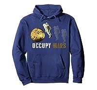 Occupy Mars T-shirt Hoodie Navy