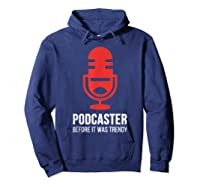 Podcast For Podcasters Funny Podcasting Gift Shirts Hoodie Navy