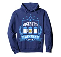 Beer Argentina Drinking Team Casual Argentina Flag T-shirt Hoodie Navy