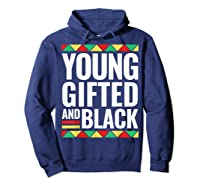 Black History Gifted Shirts Hoodie Navy