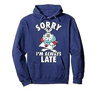 Disney Alice Always Late T Shirt Hoodie Navy