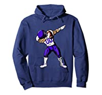 Football Dabbing T Shirt Funny Purple  Hoodie Navy