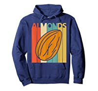 Vintage Retro Almonds Almond Nuts Gift Shirts Hoodie Navy