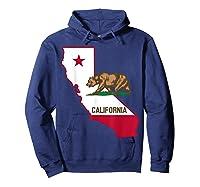 California Bear And Map Cool Gift Shirts Hoodie Navy
