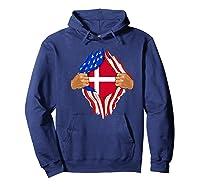 Danish Blood Inside Me T-shirt | Denmark Flag Gift Hoodie Navy
