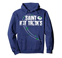 St Patricks Day Hockey T Shirt Saint Hat Trick S Day Funny Hoodie Navy