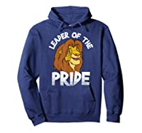 Lion King Adult Simba Leader Of Pride Graphic Shirts Hoodie Navy