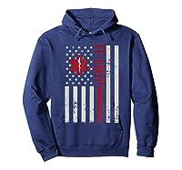 Ff Emtp Firefighter Paramedic Usa Flag Shirts Hoodie Navy