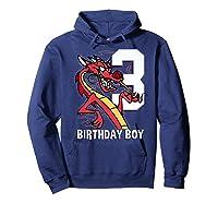 Mulan 3rd Birthday Boy Mushu Portrait Shirts Hoodie Navy