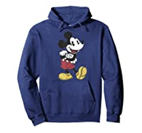 Disney Mickey Mouse Happy T Shirt Hoodie Navy
