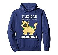 Tacocat Spelled Backwards Taco Cat Tacos Food Shirts Hoodie Navy