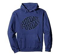 Sunday Funday Vintage Football Fan Shirts Hoodie Navy
