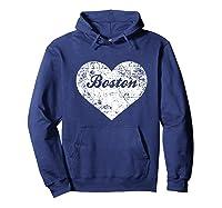 I Love Massachusetts Shirt Funny Cute Boston Gift Souvenir Hoodie Navy
