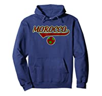 Morocco Team World Fan Soccer 2018 Cup Fan T Shirt Hoodie Navy