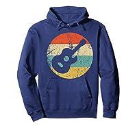 Guitaris Retro Acoustic Guitar Shirts Hoodie Navy