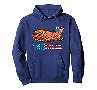 American Flag Arabian Mau Cat 4th Of July Cats Gift Shirts Hoodie Navy