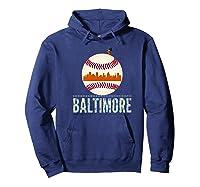 Baltimore Oriole Baseball Tshirt Hometown Skyline Design Premium T-shirt Hoodie Navy