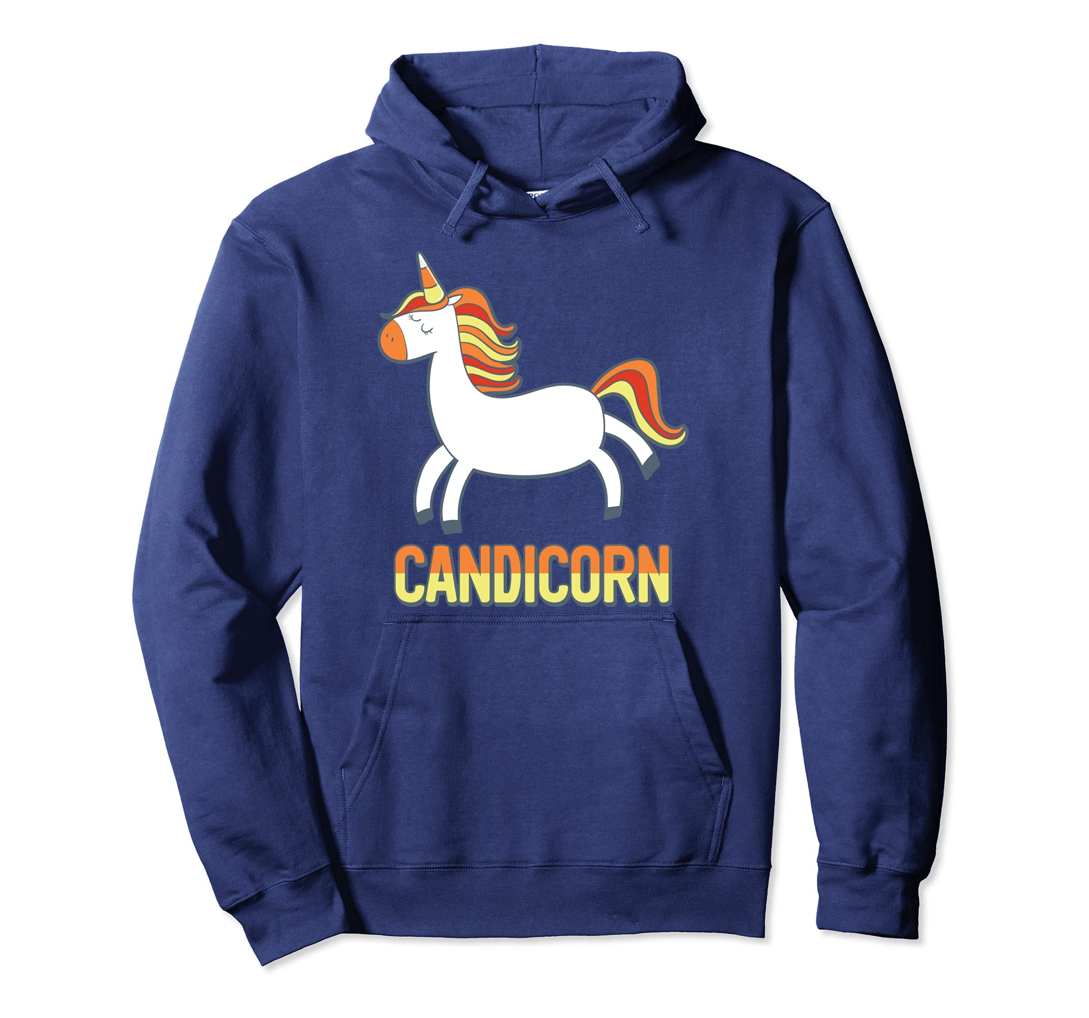 Cute Candicorn Halloween Candy Corn Unicorn Hoodie-ANZ