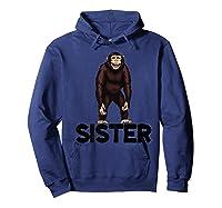 Monkey Sister Animal Jungle Humorous Premium T-shirt Hoodie Navy