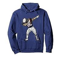 Football Dabbing T Shirt Funny Blue Gray Red  Hoodie Navy