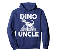 Dino-uncle Dinosaur Family Matching T-shirts Hoodie Navy