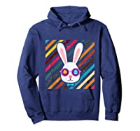 Funny Techno Rabbit Easter Edition Shirt Easter Celebration Hoodie Navy