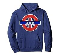 London Uk T Shirt Fun English British City Travel Gift Hoodie Navy