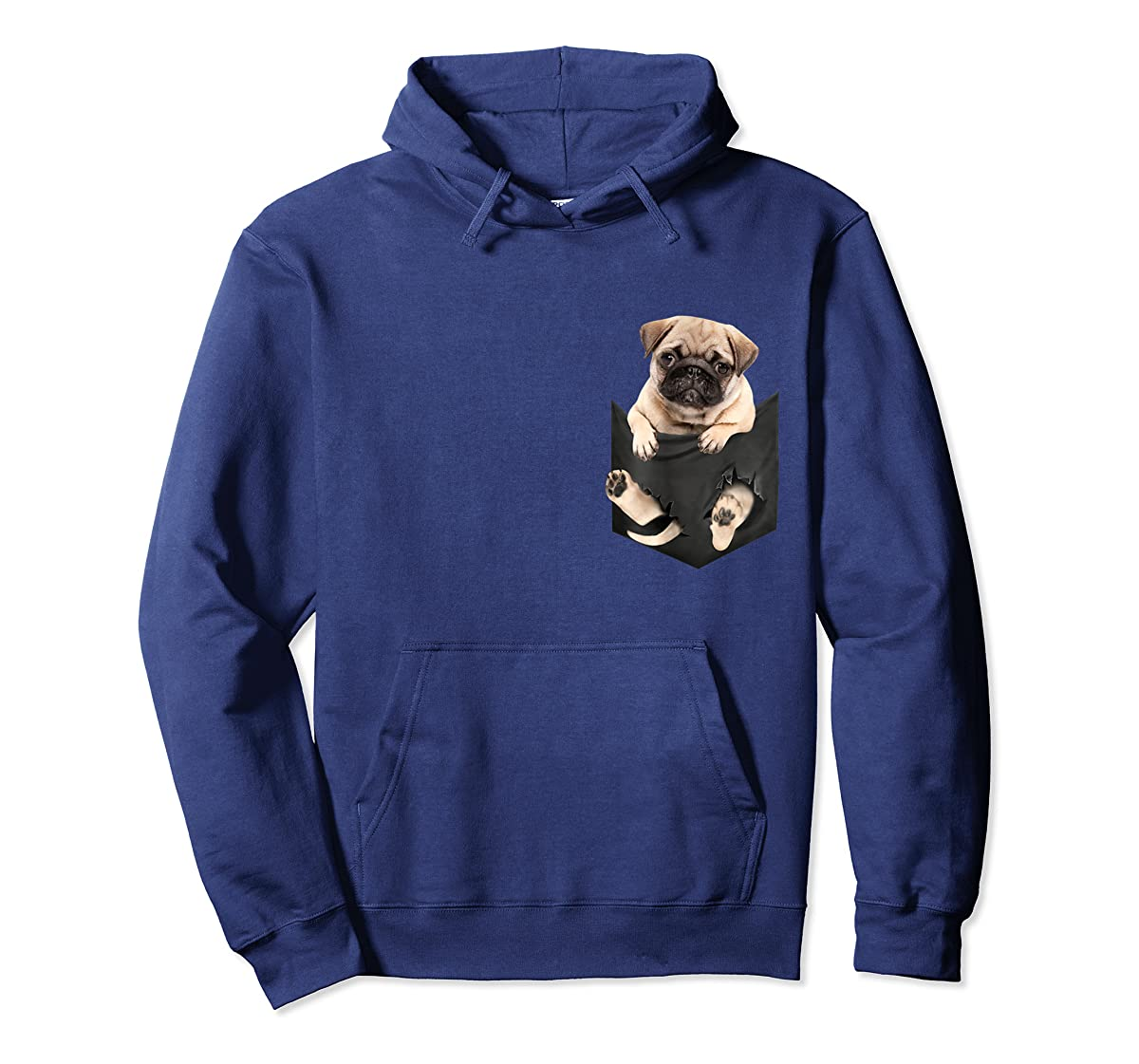 Dog in Your Pocket santa hat pug lover gift shirt-Hoodie-Navy