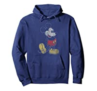 Disney Mickey Mouse Outline T Shirt Hoodie Navy