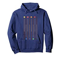 Biliard Cue Stick And 8 Pool Balls Awesome Game Shirts Hoodie Navy