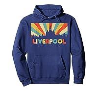Liverpool T Shirt England Vintage Skyline Souvenirs Shirt Hoodie Navy