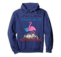 Let Me Check My Giveashitometer Nope Nothing Flamingo Shirts Hoodie Navy