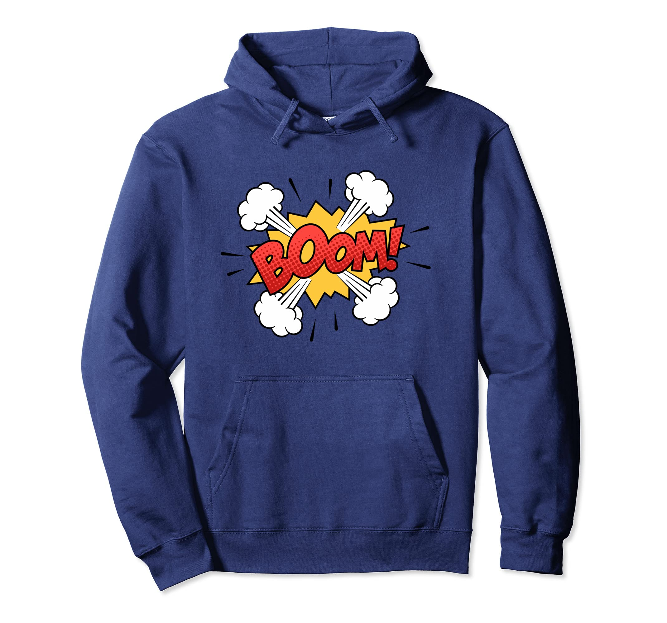 BOOM Comic Book Pullover Hoodie Animation Classic Art-Teesml