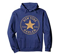 New York City Harlem Nyc Usa United States T Shirt Hoodie Navy