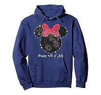 Disney Minnie Fire Works T Shirt Hoodie Navy