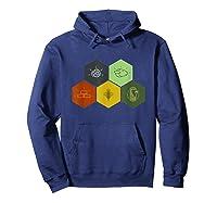 Brick, Wood, Rock, Wheat, Sheep Board Game Geek Shirts Hoodie Navy