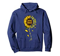 June 1993 26 Years Of Being Awesome Mix Sunflower Shirts Hoodie Navy