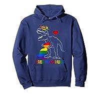 Free Mom Hugs Lgbt Mom Saurus Rainbow Gift Shirts Hoodie Navy