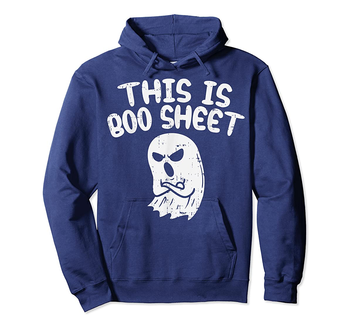 This Is Boo Sheet Ghost Pun Funny Halloween Costume Gift T-Shirt-Hoodie-Navy