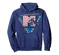 Pink Stripes Logo 90's Retro Design Graphic Shirts Hoodie Navy