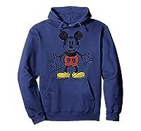 Disney Mickey Mouse Hug T Shirt Hoodie Navy