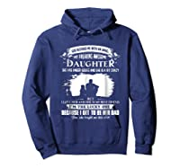 God Blessed Me With An Angel My Freaking Awesome Daughter Shirts Hoodie Navy