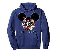 Disney Happy Holidays Group T Shirt Hoodie Navy