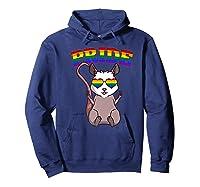 Lgbt Possum Gay Pride Rainbow Lgbtq Cute Gift Opossum Premium T-shirt Hoodie Navy