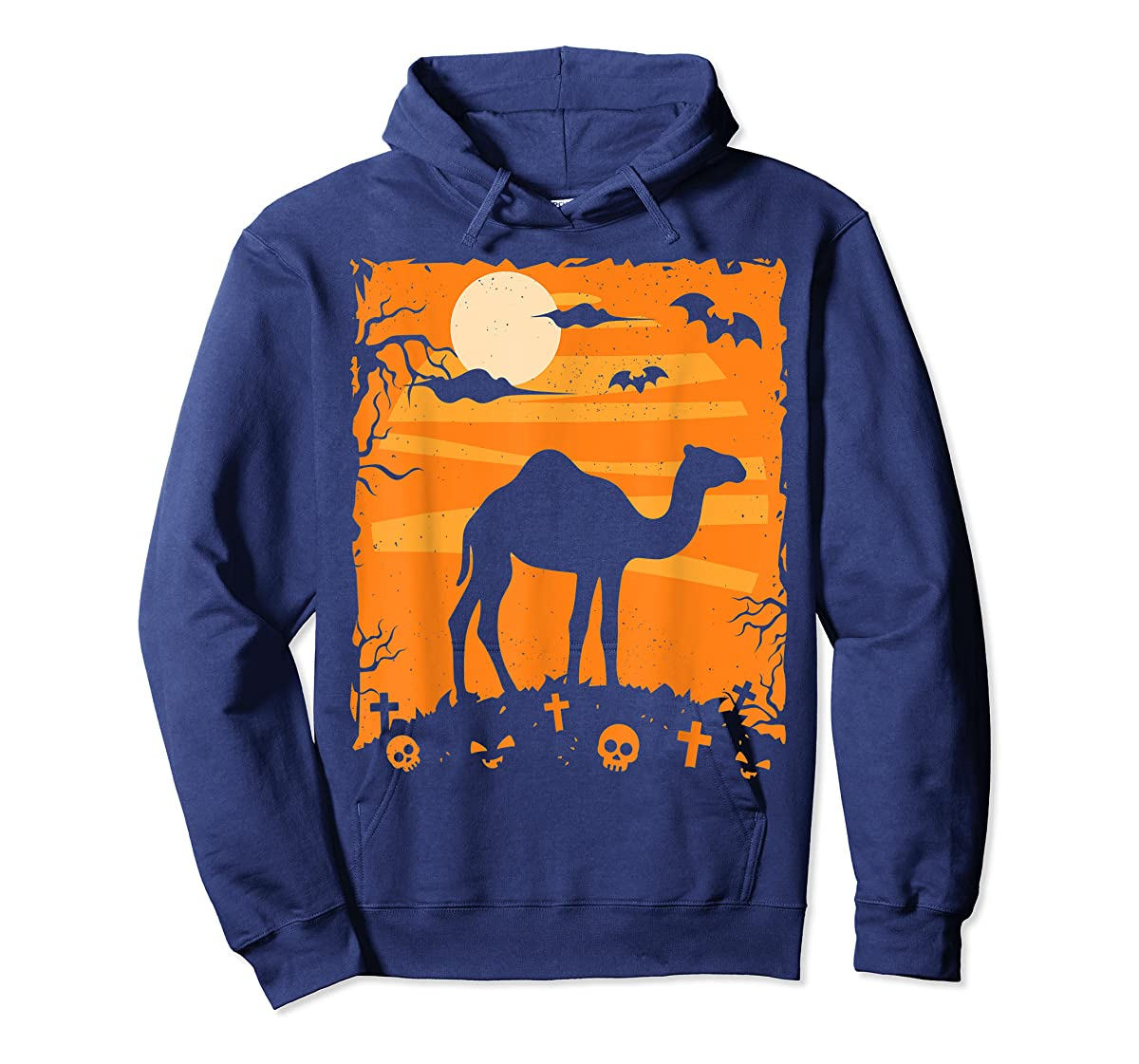 Camel Halloween Costume Animal Funny Pumpkin Outfit Gift T-Shirt-Hoodie-Navy