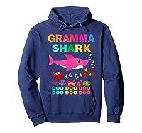 Gramma Shark, Fathers Day Gift Gramma Shark Doo Doo Do Shirts Hoodie Navy